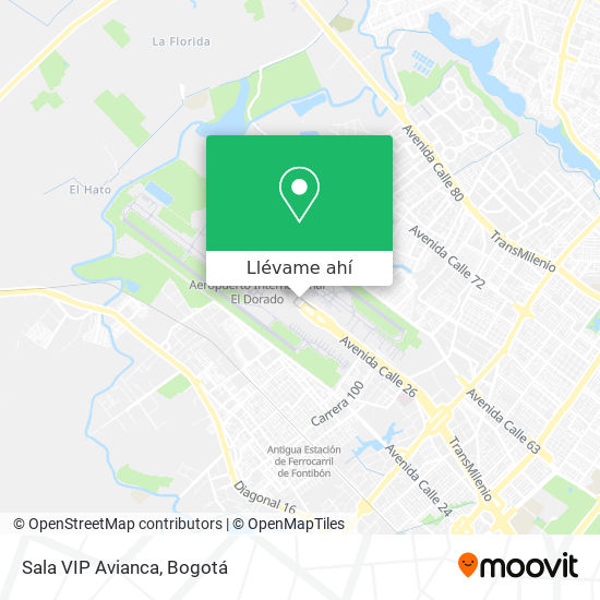 Mapa de Sala VIP Avianca