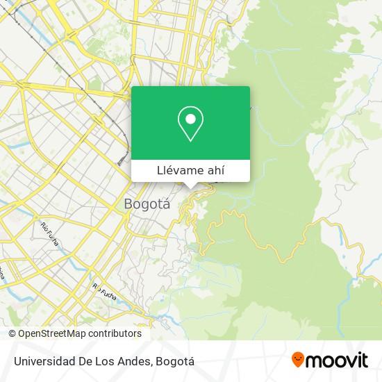 Mapa de Universidad De Los Andes