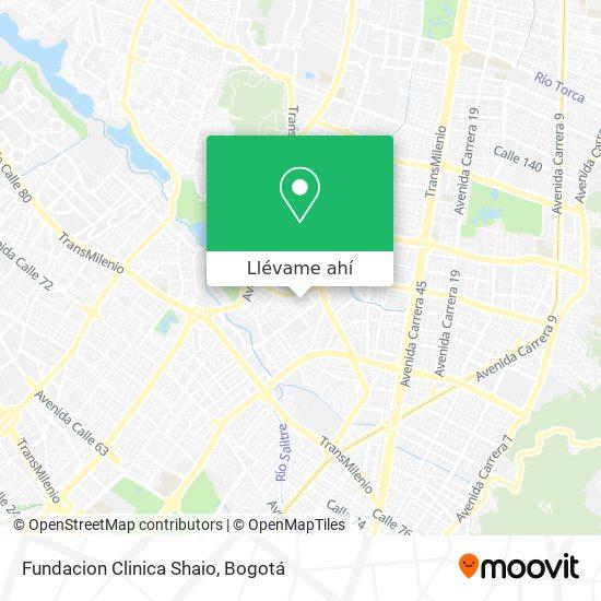 Mapa de Clínica Shaio
