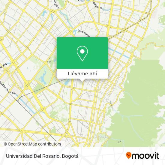 Mapa de Universidad Del Rosario