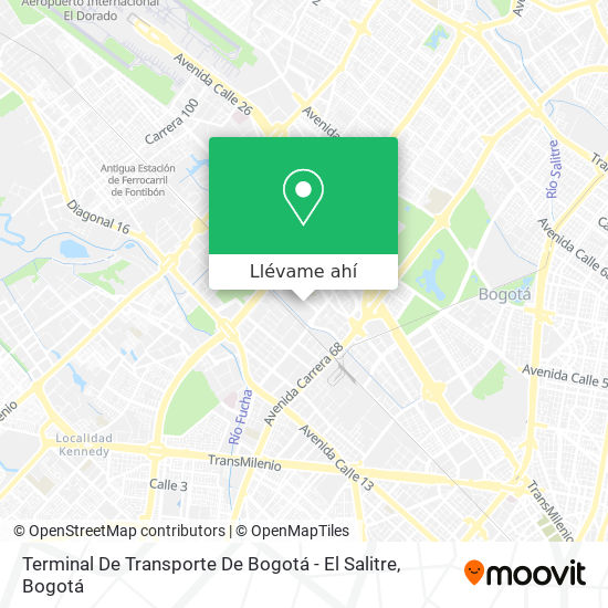 Mapa de Terminal De Transporte De Bogotá - El Salitre