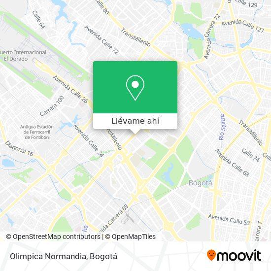 Mapa de Olimpica Normandia