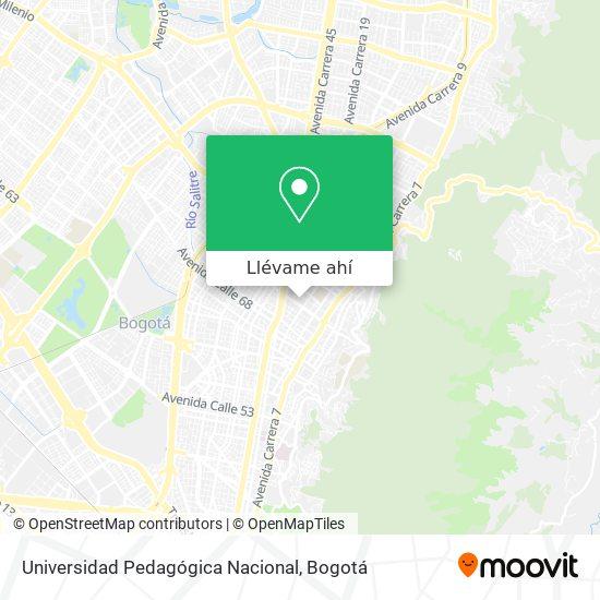 Mapa de Universidad Pedagógica Nacional