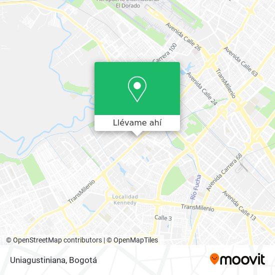 Mapa de Uniagustiniana