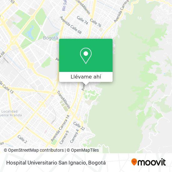 Mapa de Hospital Universitario San Ignacio