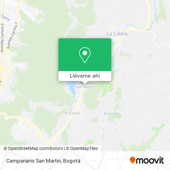 Mapa de Campanario San Martin