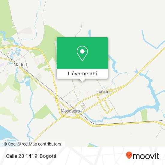 Mapa de Calle 23 1419