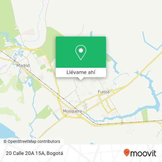 Mapa de 20 Calle 20A 15A