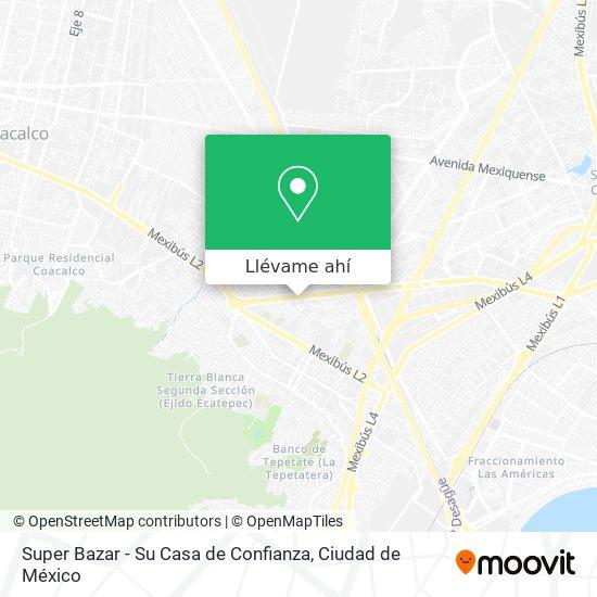 Mapa de Super Bazar - Su Casa De Confianza