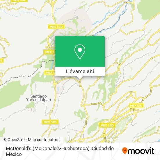 Mapa de McDonald's (McDonald's-Huehuetoca)