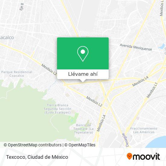 Mapa de Texcoco