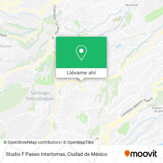 Mapa de Studio F Paseo Interlomas