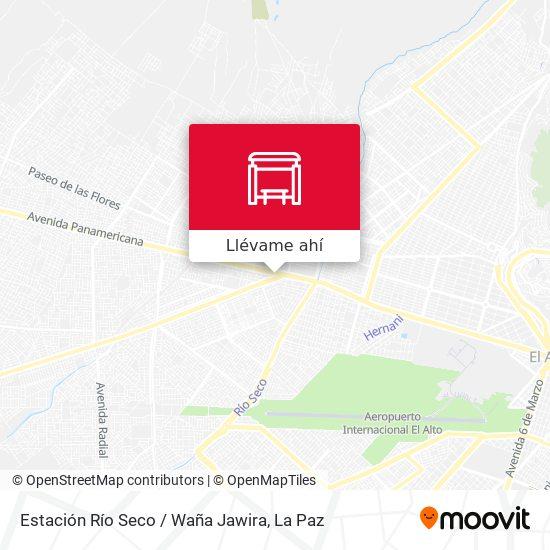 Mapa de Estación Río Seco / Waña Jawira