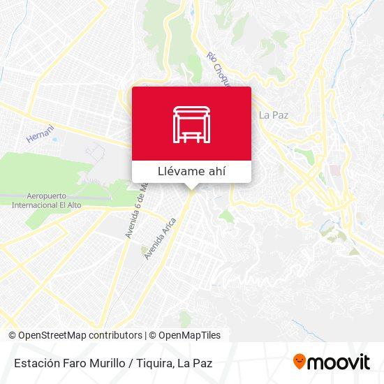 Mapa de Estación Faro Murillo / Tiquira