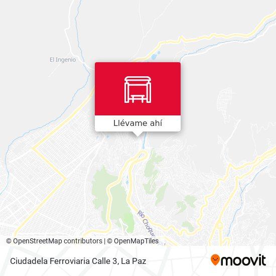Mapa de Ciudadela Ferroviaria Calle 3