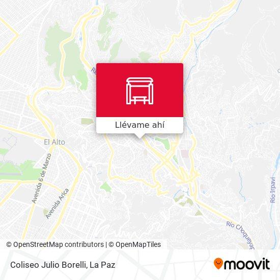 Mapa de Coliseo Julio Borelli