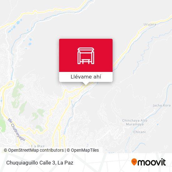 Mapa de Chuquiaguillo Calle 3