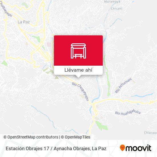Mapa de Estación Obrajes 17 / Aynacha Obrajes