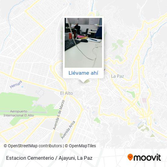 Mapa de Estacion Cementerio / Ajayuni