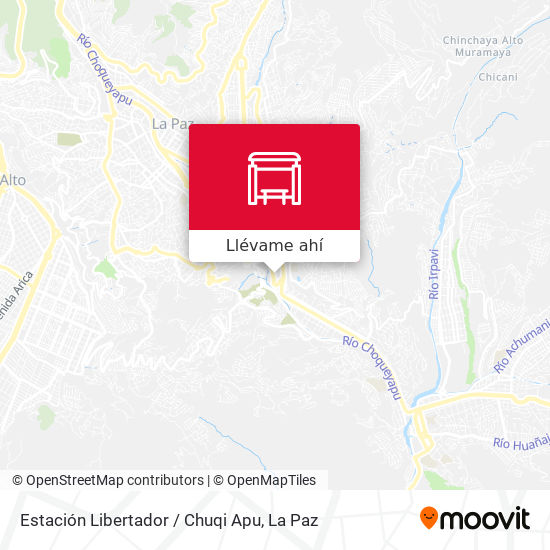 Mapa de Estación Libertador / Chuqi Apu