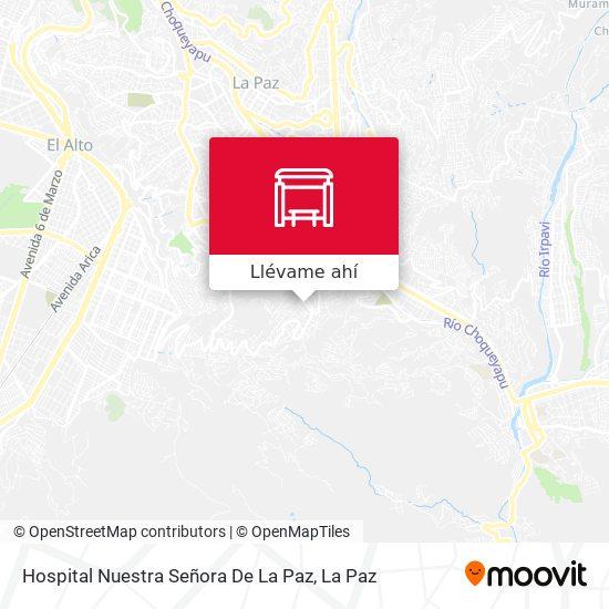 Mapa de Hospital Nuestra Señora De La Paz