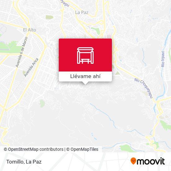 Mapa de Tomillo