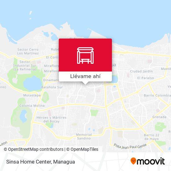 Mapa de Sinsa Home Center