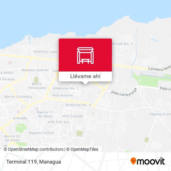 Mapa de Terminal 119