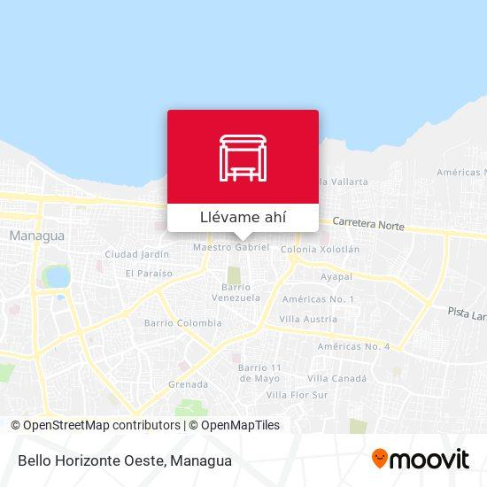 Mapa de Bello Horizonte Oeste