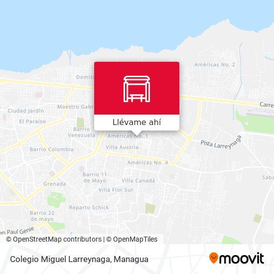 Mapa de Colegio Miguel Larreynaga