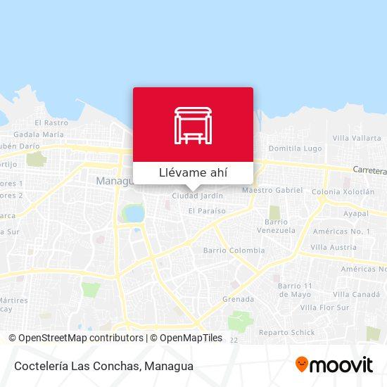 Mapa de Coctelería Las Conchas
