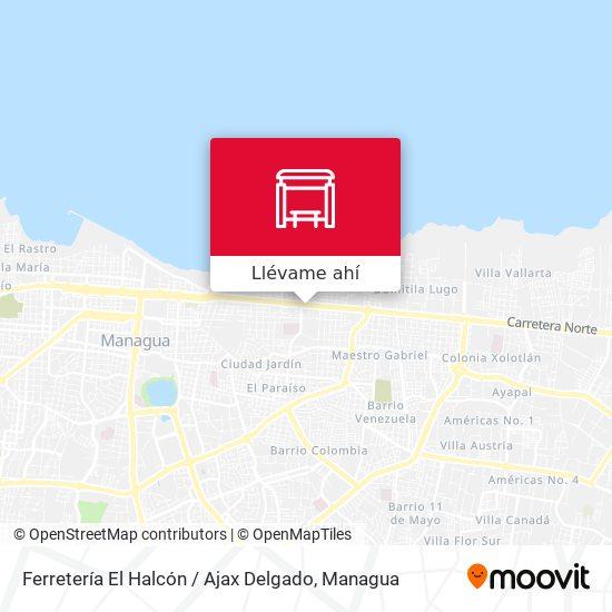 Mapa de Ferretería El Halcón / Ajax Delgado