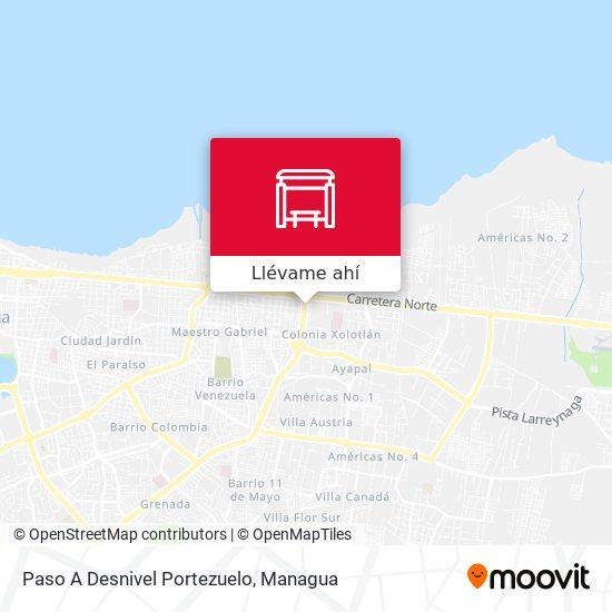 Mapa de Paso A Desnivel Portezuelo