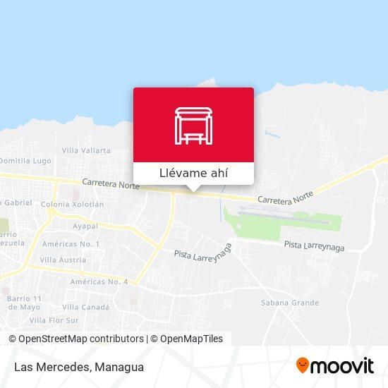 Mapa de Las Mercedes