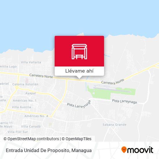 Mapa de Entrada Unidad De Proposito