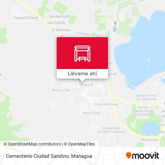 Mapa de Cementerio Ciudad Sandino
