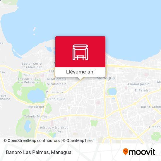 Mapa de Banpro Las Palmas