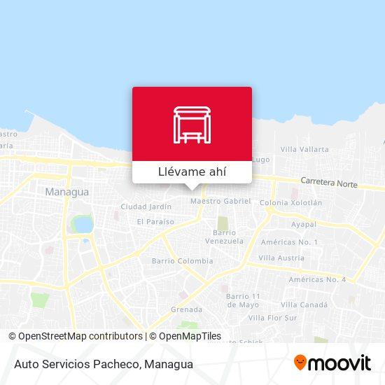 Mapa de Auto Servicios Pacheco