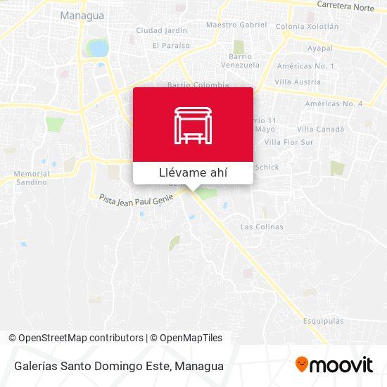 Mapa de Galerías Santo Domingo Este