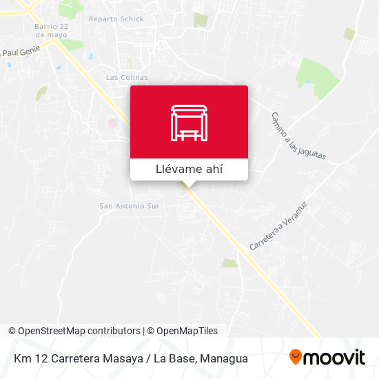 Mapa de Km 12 Carretera Masaya / La Base