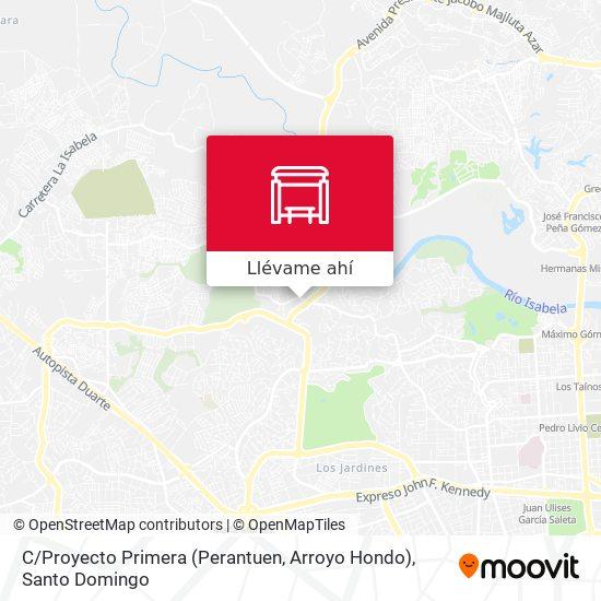 Mapa de C / Proyecto Primera (Perantuen, Arroyo Hondo)