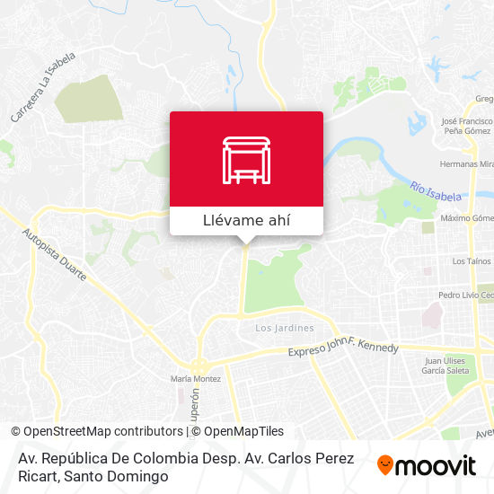 Mapa de Av. República De Colombia Desp. Av. Carlos Perez Ricart