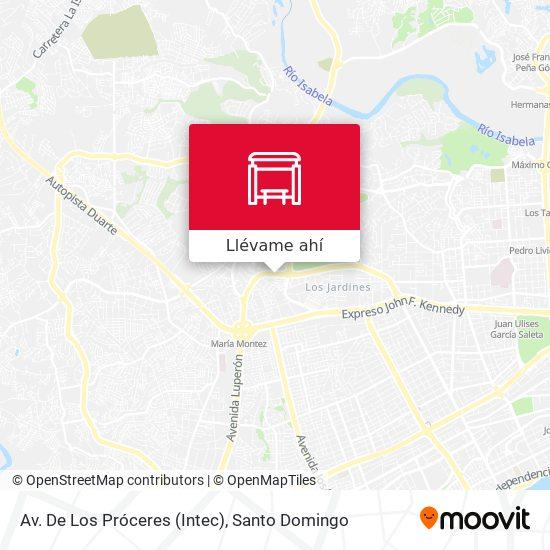 Mapa de Av. De Los Próceres (Intec)
