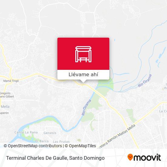 Mapa de Terminal Charles De Gaulle