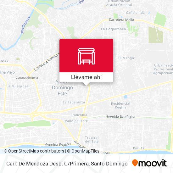Mapa de Carr. De Mendoza Desp. C / Primera