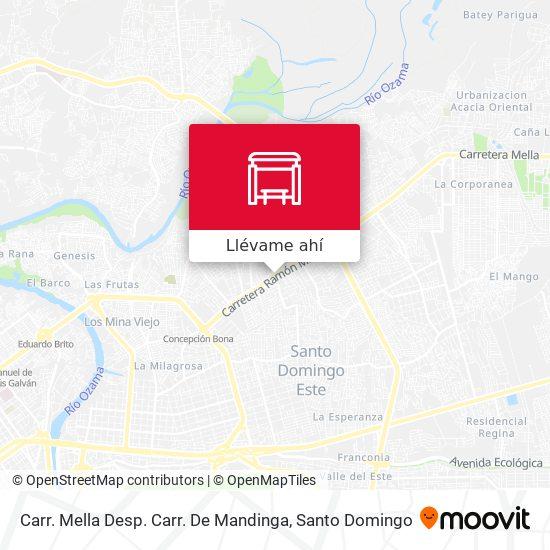 Mapa de Carr. Mella Desp. Carr. De Mandinga