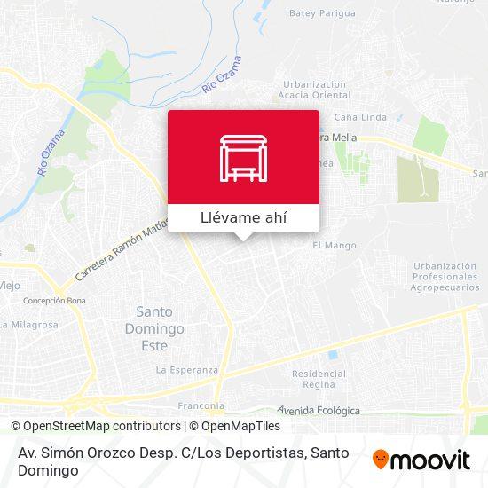 Mapa de Av. Simón Orozco Desp. C / Los Deportistas
