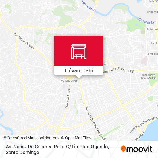 Mapa de Av. Núñez De Cáceres Prox. C / Timoteo Ogando