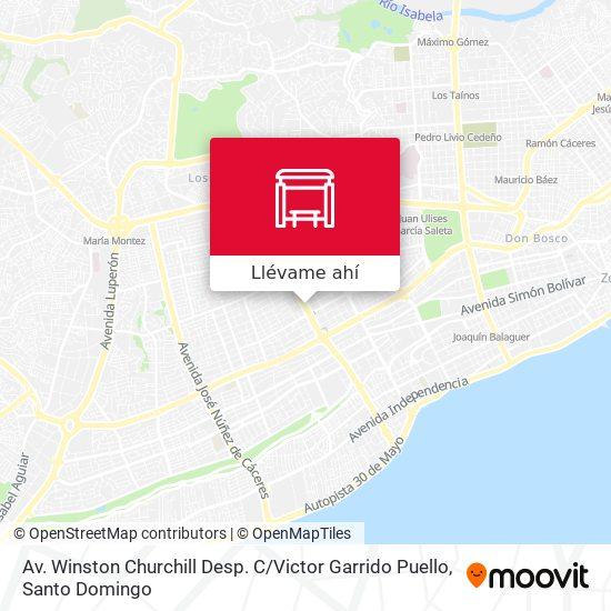 Mapa de Av. Winston Churchill Desp. C / Victor Garrido Puello