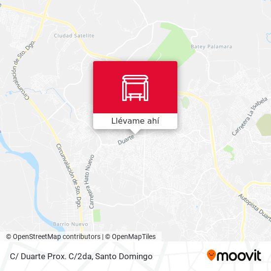 Mapa de C/ Duarte Prox. C/2da